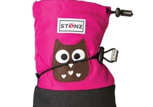 Stonz Booties Owl Fuchsia