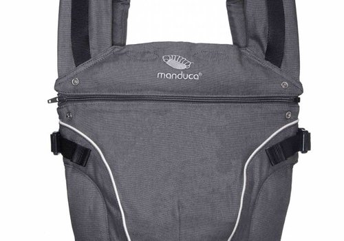 Manduca Manduca baby carrier Pure Cotton Dark Grey, dark gray.