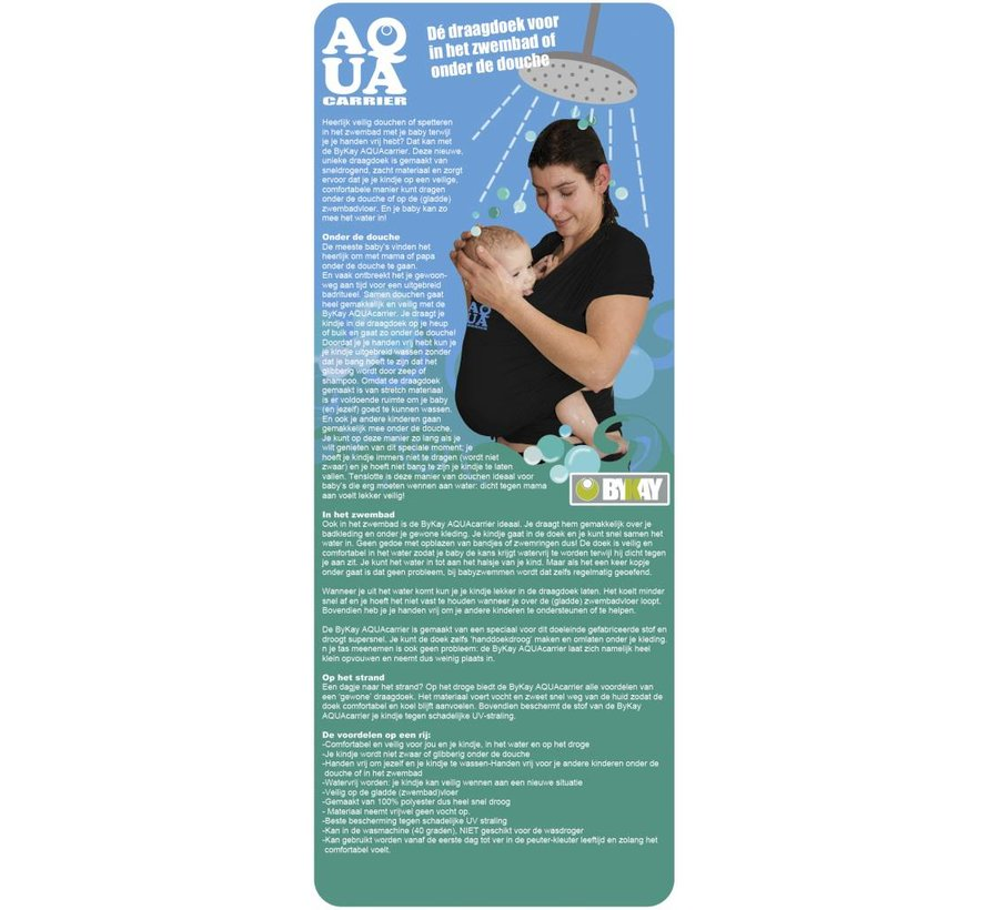 5b57d892e64f ByKay AQUAcarrier black, wrap sling for use in the water and shower ...