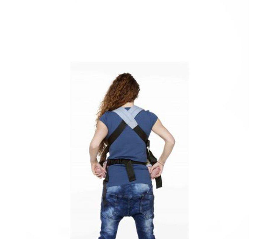ByKay classic carrier dark jeans denim draagzak.