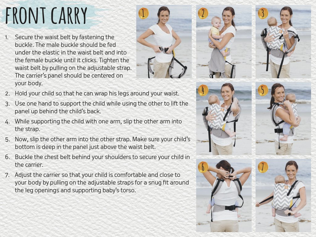 Belly carrying with a Tula baby carrier