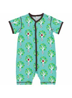 Maxomorra Maxomorra Rompersuit Button LS TREE
