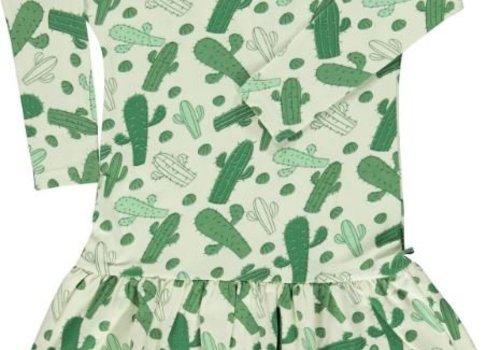 Smafolk Smafolk Jurk lange mouwen Cactus