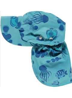 Smafolk Smafolk Sun cap. Fishes Air Blue