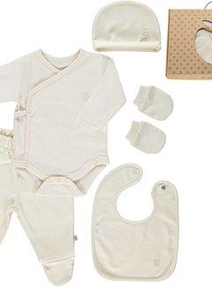 Smafolk GOTS. Newborn Set Cream