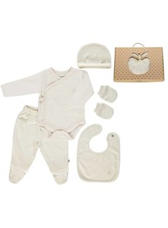 Smafolk Smafolk GOTS. Newborn Set Cream