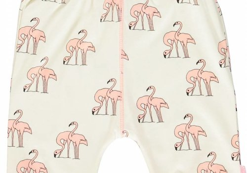 Smafolk Smafolk Jersey pants with flamingos, 3/4 length