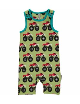 Maxomorra Maxomorra  Playsuit Short MONSTER TRUCK