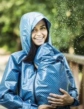 Angel Wings  Angel Wings Polka dot raincoat blue