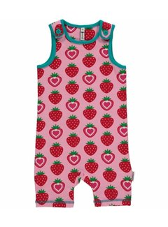 Maxomorra Playsuit Short STRAWBERRY