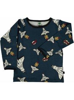 Smafolk Smafolk  T-shirt with rocket Majolica