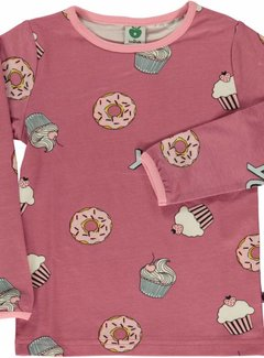 Smafolk Smafolk  T-shirt with Cupcakes Mesa Rose