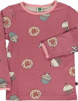 Smafolk Smafolk  T-shirt with Cupcakes Mesa Rose