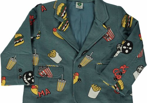 Smafolk Smafolk  Sweat blazer with cinema Bluestone