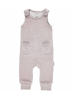 Maxomorra <h2>Maxomorra Playsuit Velour Pocket Grey</h2>