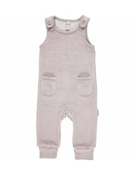 Maxomorra Maxomorra Playsuit Velour Pocket Grey