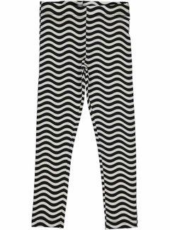 Maxomorra Maxomorra Leggings Waves Black/White