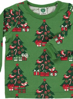 Smafolk Baby t-shirt with Christmas trees