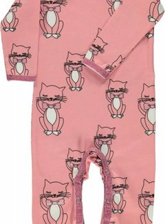 Smafolk Smafolk Body suit with cat Blush
