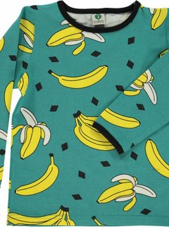 Smafolk Smafolk T-shirt with bananas Agate Green