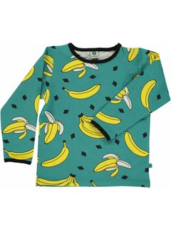 Smafolk Smafolk T-shirt with bananas Agate Green