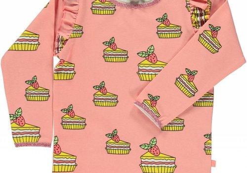 Smafolk Smafolk T-shirt taart en ruffles   Coral