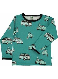 Smafolk Smafolk T-shirt with cars Agate Green