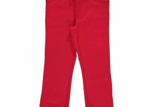 Maxomorra Maxomorra Pants Rib Twill RED