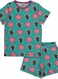 Maxomorra Maxomorra Pyjama Set SS CHERRY BLOSSOM