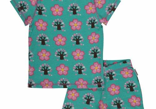 Maxomorra Maxomorra Pyjama Set SS CHERRY BLOSSOM CHERRY BLOSSOM