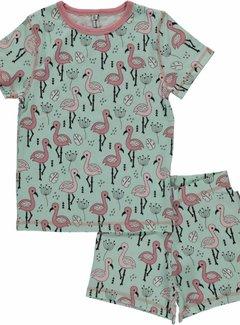Maxomorra Maxomorra Pyjama Set SS SWEET FLAMINGO
