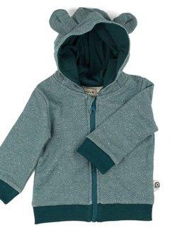 Onnolulu Onnolulu hoodie balou PETROL SLUB SWEATER COTTON