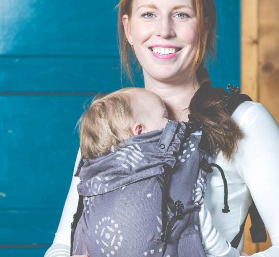 Pure baby love Happiness Grey draagzak