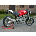 Spark Exhaust Technology Stainless steel silencers round open MONSTER 900