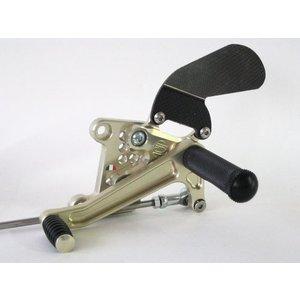 Discacciati Brake systems Einstellbare Fussrastenanlage für Triumph Speed Triple 1050 bis 2010