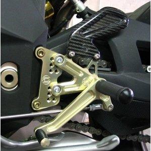 Discacciati Brake systems Einstellbare Fussrastenanlage für MV Agusta F4 und Brutale-Set ohne Bremshebel, ohne den hinteren Hauptbremszylinder