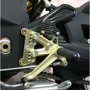 Discacciati Brake systems Adjustable rear set F4 and Brutale, with rear brake pump and reservoir