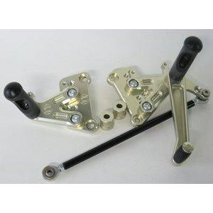 Discacciati Brake systems Einstellbare Fussrastenanlage Ducati 848/1098/1198