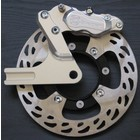 Discacciati Brake systems Rear wheel brake kit Bonneville for spoked wheels with 4-piston caliper, disc Ø 256 with spacer and bracket