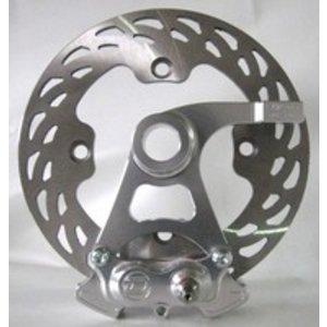Discacciati Brake systems Bremse hinten Kit GSXR 1000 03-04, 05 -, 4-Kolben-Bremssattel, Halter und Scheibe. Austauschbare Original