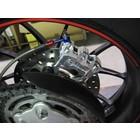 Discacciati Brake systems Hiterradbrems upgrade kit Ducati Hypermotard / Hypertrada , mit radialen hinteren Bremssattel und Halter.
