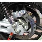 Discacciati Brake systems HD Sportster, Achterrem kit 4-zuiger remklauw met beugel. voor gebruik met originele Ø remschijf