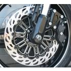 Discacciati Brake systems Halterungen für HD XR1200, O320 vorderen Scheiben mit Original-Bremssattel. Das Kit umfasst zwei Discs und Klammern in schwarz