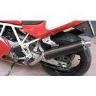 Spark Exhaust Technology 600/750/900 SS ('91 / '97) Kohlefaser-Schalldämpfer, niedrige gelegd , rund , EU zugelassen