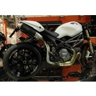 Spark Exhaust Technology Monster 1100 EVO dark style silencers , high mounting, with EU approval