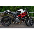 Spark Exhaust Technology Monster 1100 EVO dark style silencers, high mounting, open version