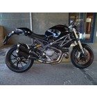 Spark Exhaust Technology Monster 1100 EVO dark style,standard mounting, EU approval