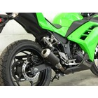 Spark Exhaust Technology Kawasaki Ninja 300 Moto GP Slip on Dark Style open version