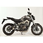 Spark Exhaust Technology Yamaha MT 09 14-FULL SYSTEM low model with EU approval, Stainless steel silencer FORCE model