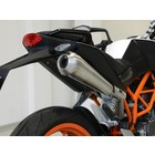 Spark Exhaust Technology KTM Duke 390 GP style silencer high mounting